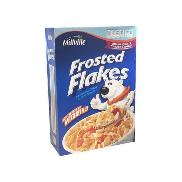 Millville Frosted Flakes Sweetened Flakes Of Corn Cereal