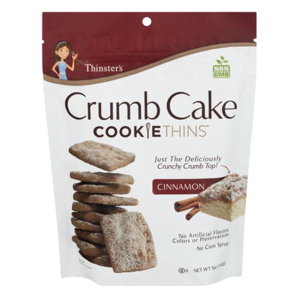 Mrs Thinsters Crumb Cake Cookie Thins Cinnamon