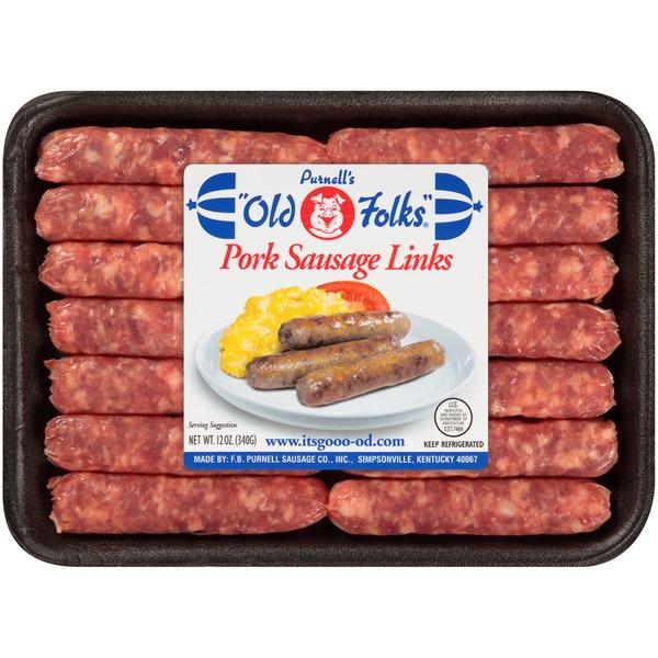 purnell s old folks pork sausage links