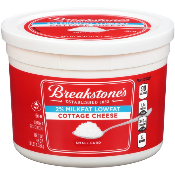 Wondrous Breakstones Small Curd Milkfat Lowfat Cottage Cheese 48 Oz Download Free Architecture Designs Rallybritishbridgeorg