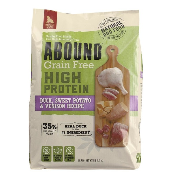 Abound Pet All Natural Grain Free High Protein Duck Sweet Potato