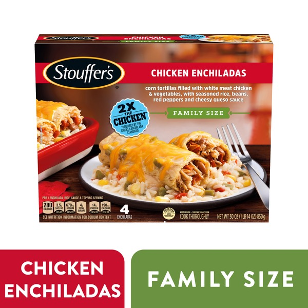 stouffer's family size chicken enchiladas frozen meal 30