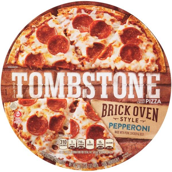 Tombstone Brick Oven Style Thin Crust Pepperoni Tombstone Brick Oven