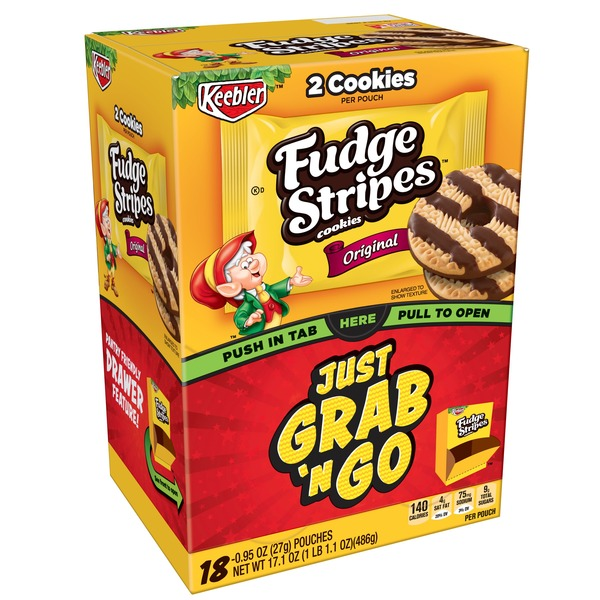 Keebler Fudge Stripes Cookies Original