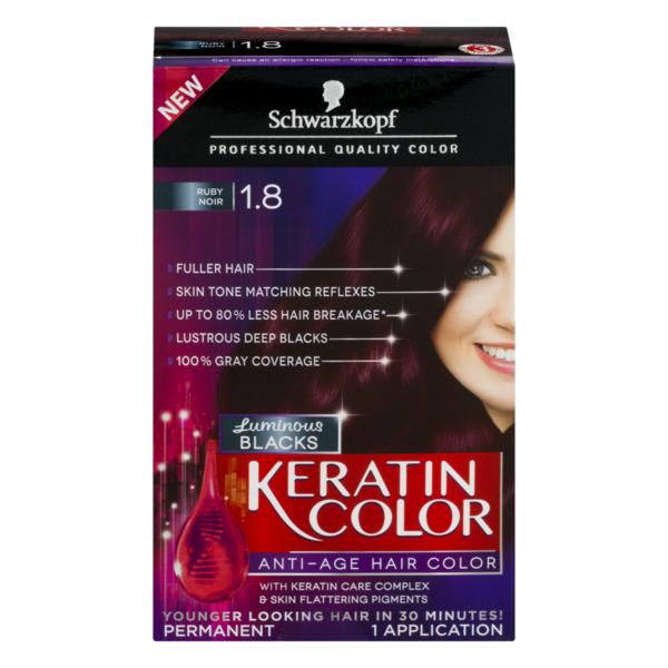 Schwarzkopf Keratin Color Permanent Hair Color Ruby Noir 1 8 1 Ct