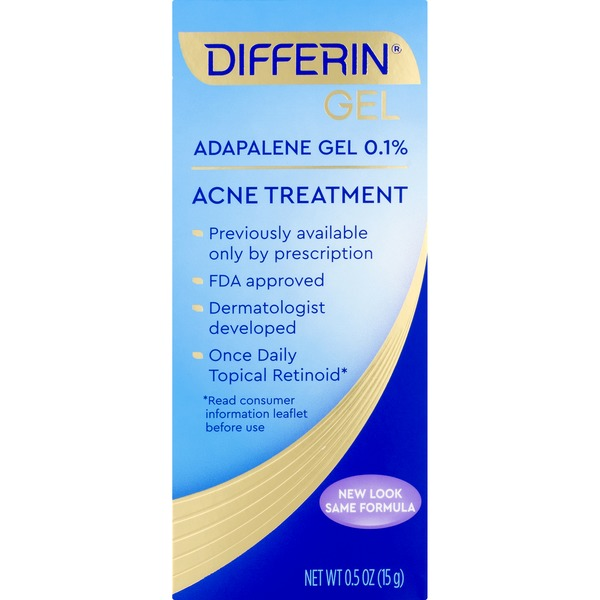 Differin Acne Treatment Adapalene 0 1 Gel Box 0 5 Oz Instacart