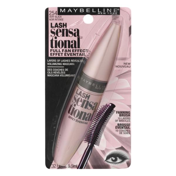 0354a7847ba Maybelline Lash Sensational Mascara 254 Very Black (0.32 fl oz) from ...