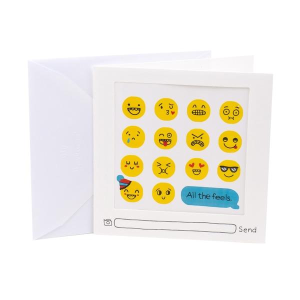 Hallmark Studio Ink Birthday Card Emoji Stickers