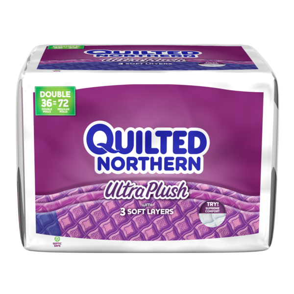 Quilted Northern Ultra Plush Toilet Paper 36 Double Rolls Bath