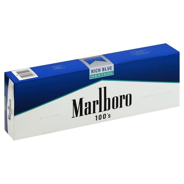 Marlboro Cigarettes Rich Blue Menthol 100 S Flip Top Box 10 Ea