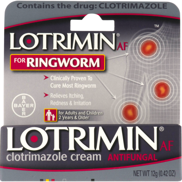Lotrimin Antifungal Cream for Ringworm (0 42 oz) from King