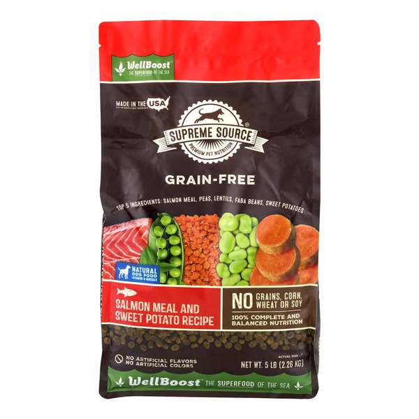 Supreme Source Grain Free Dog Food Salmon Meal And Sweet Potato Recipe