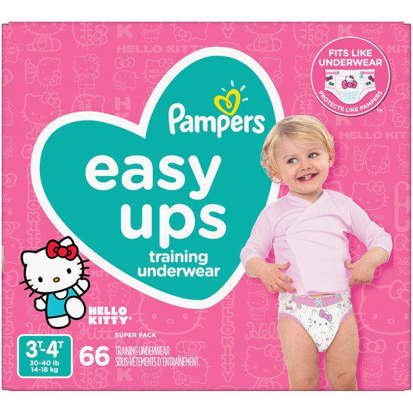 46a88348d07 Pampers Easy Ups Training Underwear Girls Size 5 3T-4T (66 ct) from ...