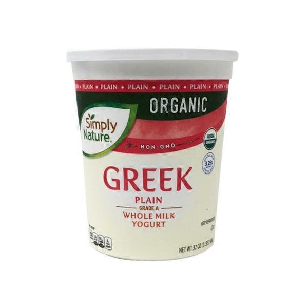 Simply Nature Organic Whole Milk Plain Greek Yogurt (32 oz) from