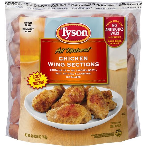 Tyson Frozen Uncooked Tyson® Chicken Wing Sections, 4 lb. (Frozen)