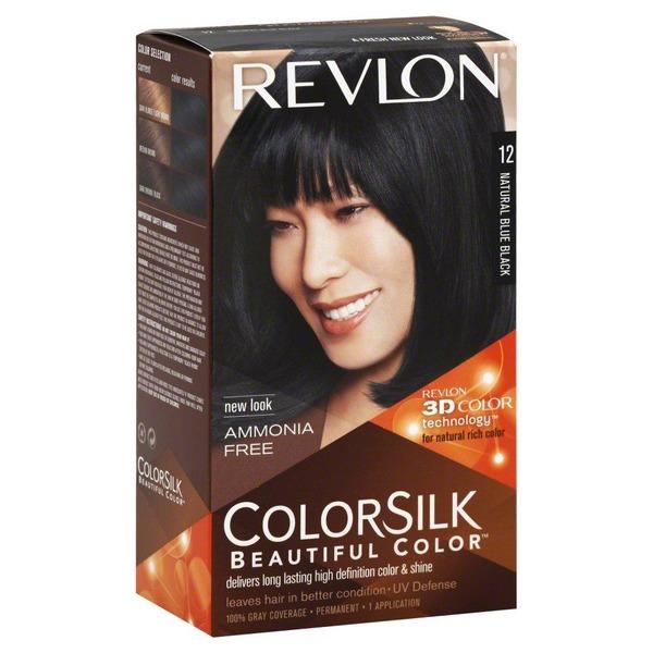 Revlon Colorsilk 12 Natural Blue Black Permanent Hair Color From