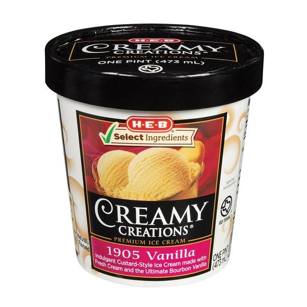 1905 vanilla ice cream