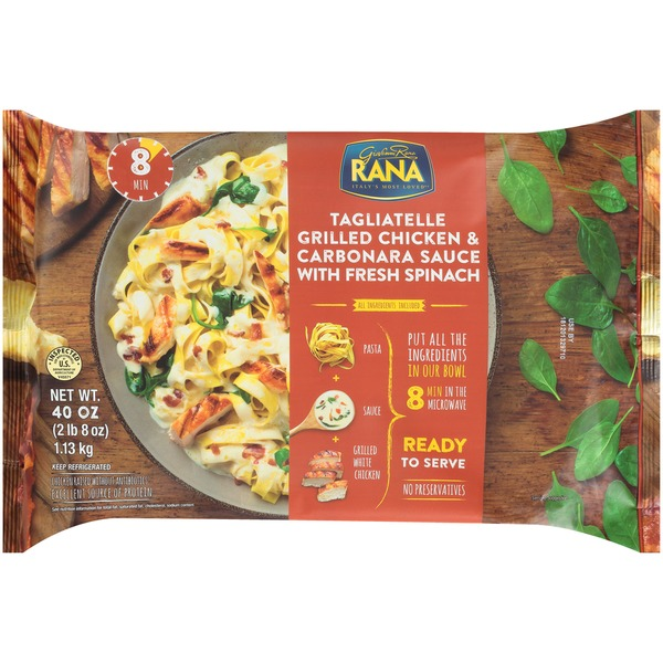 Rana Grilled Chicken & Carbonara Sauce with Fresh Spinach