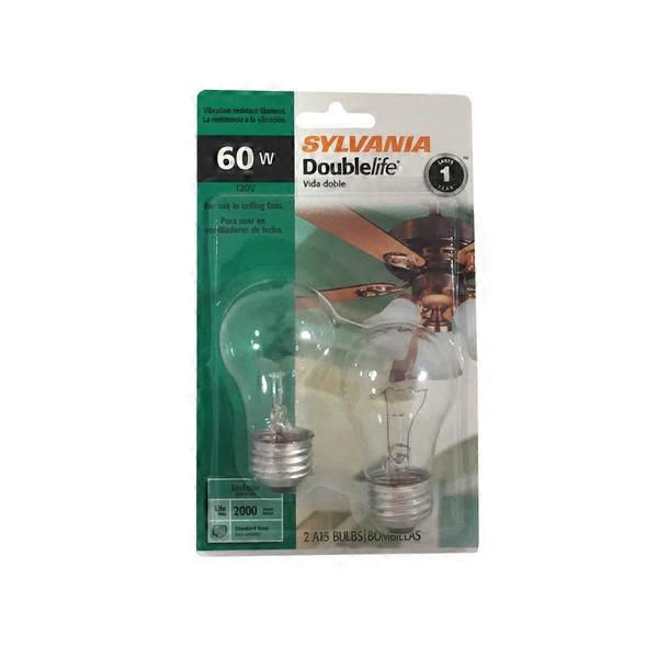 Sylvania double life 60w ceiling fan light bulbs 2 ct from jewel sylvania double life 60w ceiling fan light bulbs aloadofball Choice Image