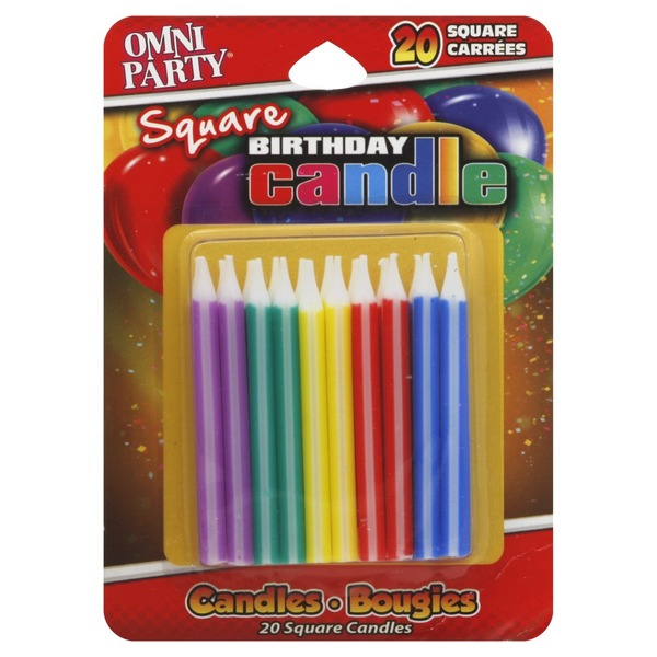 Omni Party Birthday Candles Square