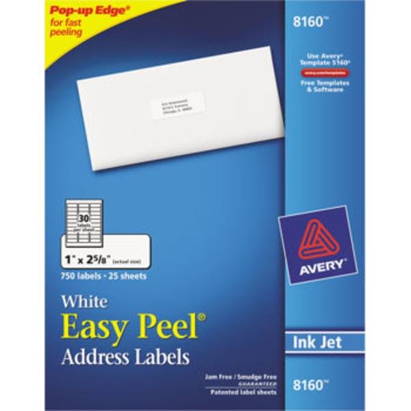 Avery Easy Peel White Mailing Labels From Kroger Instacart