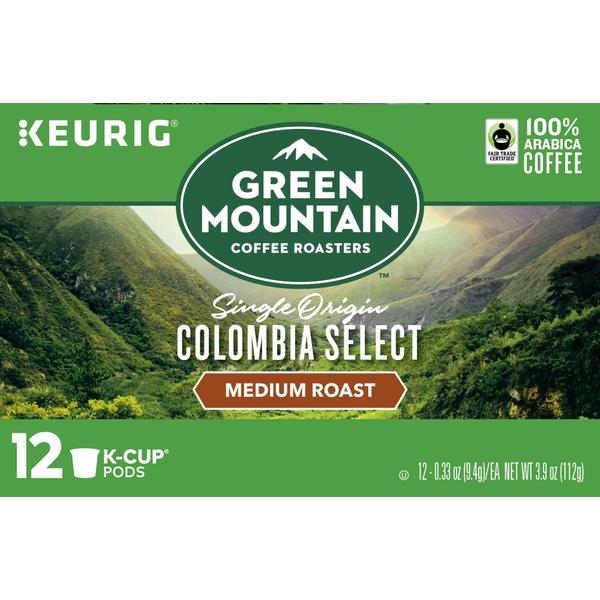 Green Mountain Coffee Colombian Fair Trade Select K-Cup Packs Coffee ...