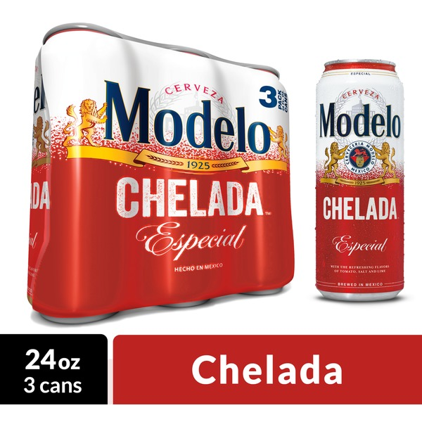 Modelo Chelada Especial Mexican Import Flavored Beer Cans 24 Fl Oz Instacart