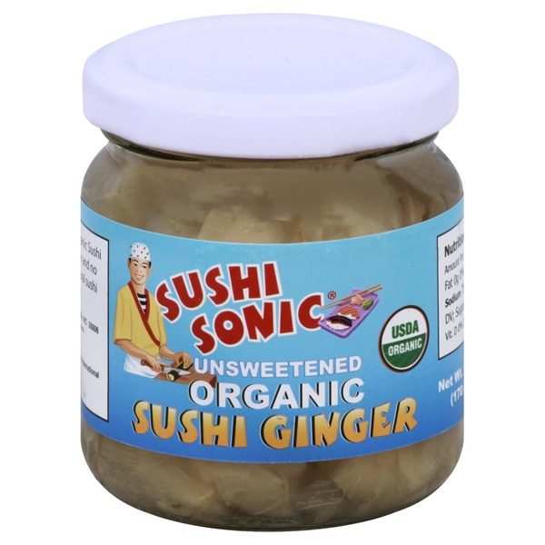 Sushi Sonic Sushi Ginger, Organic, Unsweetened (6 oz) from