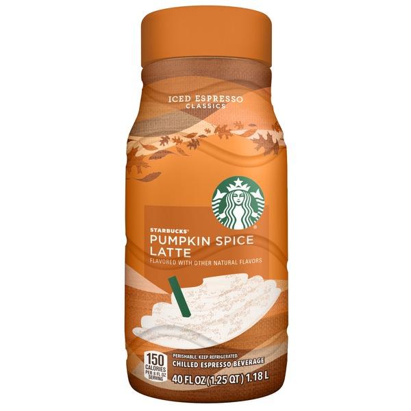 Starbucks Iced Espresso Classics Pumpkin Spice Latte 40 Fl