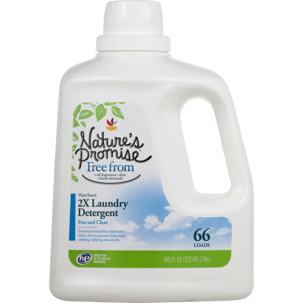 Nature's Promise 2X Laundry Detergent Free and Clear (100 fl