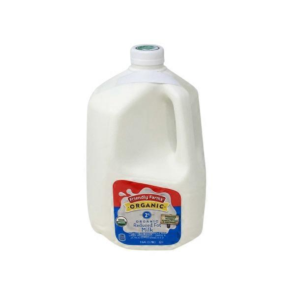 Friendly Farms Organic 2% Milk (128 oz) from ALDI - Instacart