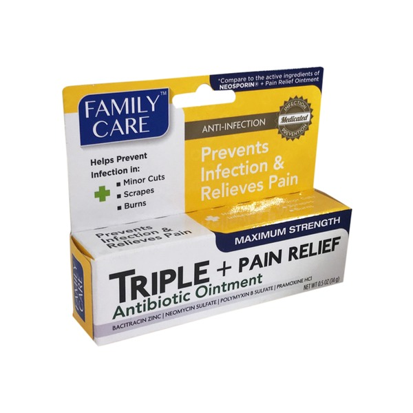 Family Care Triple Antibiotic Ointment Pain Relief (each) from