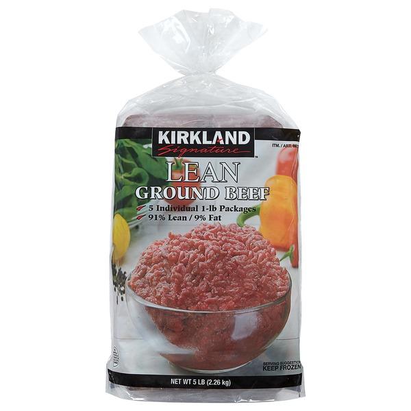Kirkland Signature 91% Lean Ground Beef Tubes