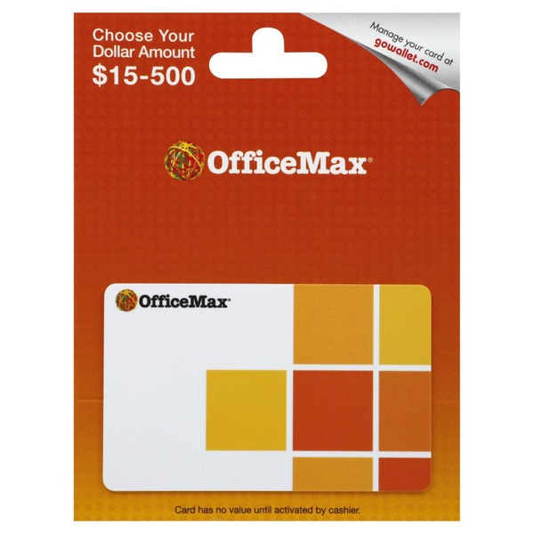 Office Max Gift Card, $15 500