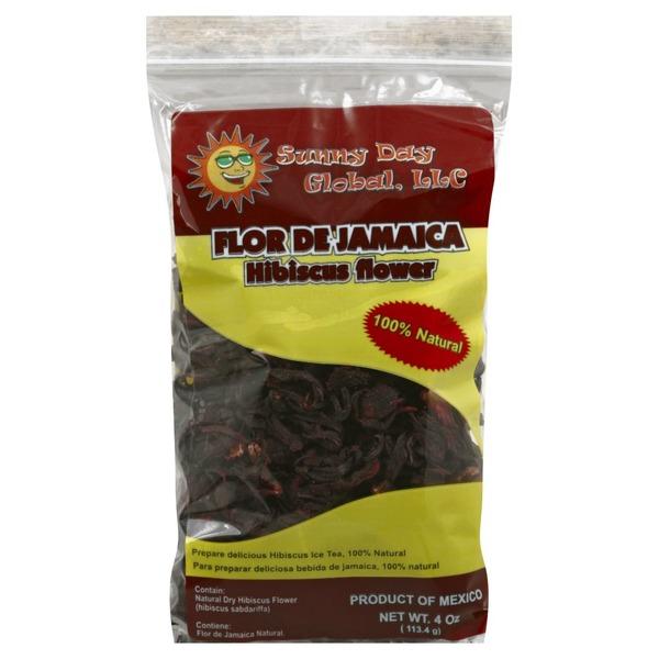Sunny Day Global Flor De Jamaica Hibiscus Flower Tea 4 Oz From