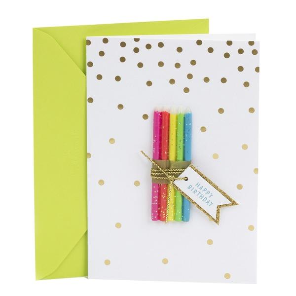 Hallmark Signature Birthday Card Candle Bundle