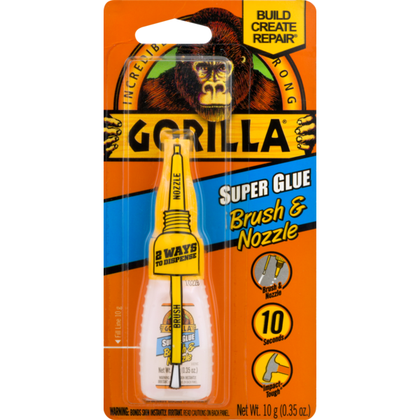 Gorilla Glue Super Glue Brush & Nozzle (0 35 oz) from Giant