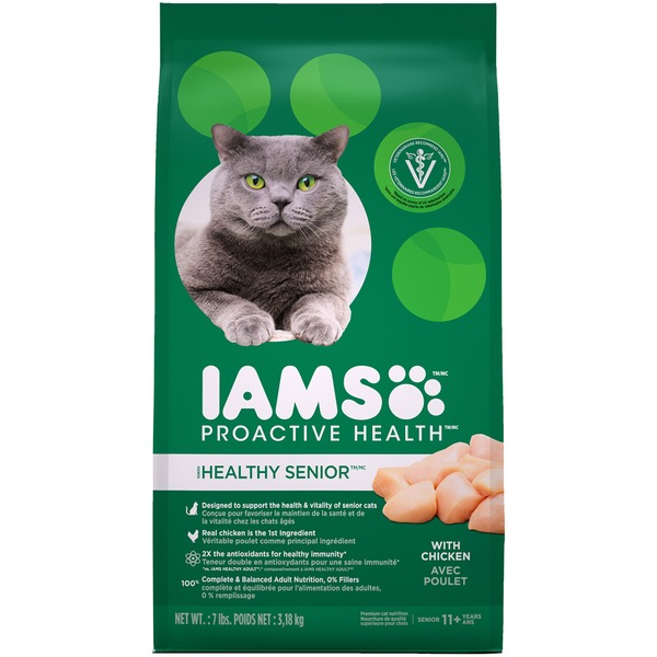 Iams Proactive Health Healthy Senior With Chicken Dry Cat Food From