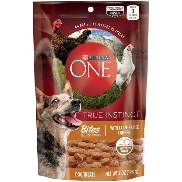 Purina one dog treats true instinct bites with farm raised chicken purina one dog treats true instinct bites with farm raised chicken dog treats publicscrutiny Image collections