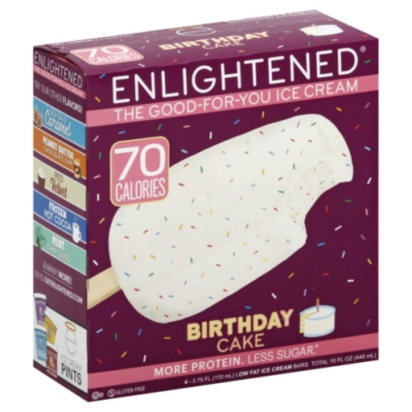 Enlightened Ice Cream Bars Low Fat Birthday Cake 375 Fl Oz From Stop Shop
