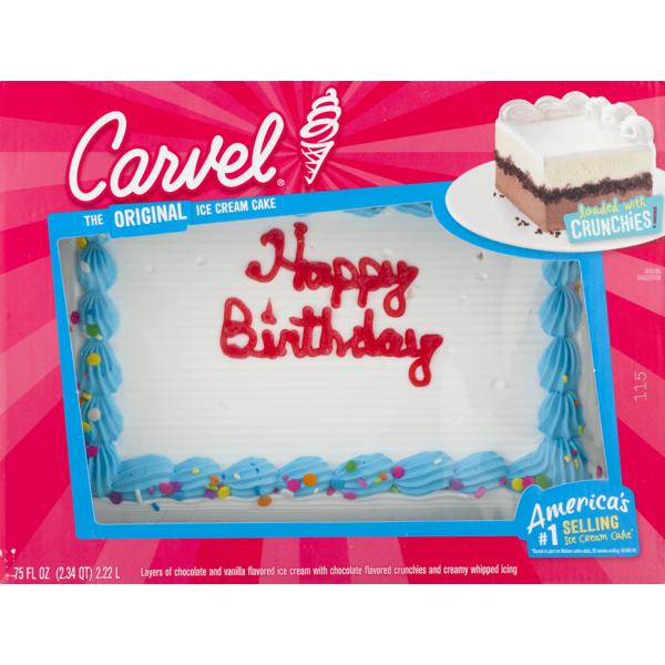 Awe Inspiring Carvel Ice Cream Cake 75 Fl Oz Instacart Funny Birthday Cards Online Elaedamsfinfo