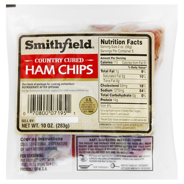 Smithfield Ham Chips, Country Cured (10 oz) from Tom Thumb