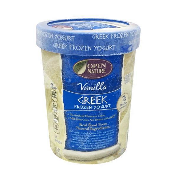 Open Nature Frozen Yogurt, Greek, Vanilla (1 5 qt) from