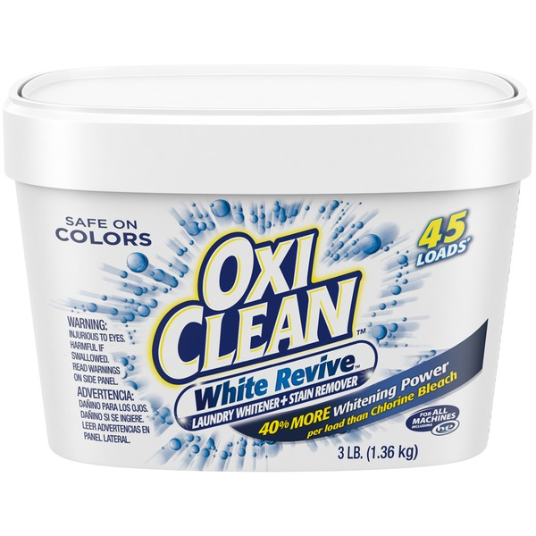 Oxi Clean White Revive Laundry Stain Remover from Stop