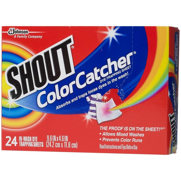 Shout Color Catcher In-Wash Dye Trapping Sheets Dye Catcher from ...