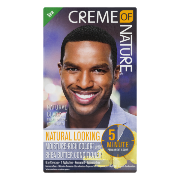 Creme Of Nature Permanent Hair Color For Men Natural Black