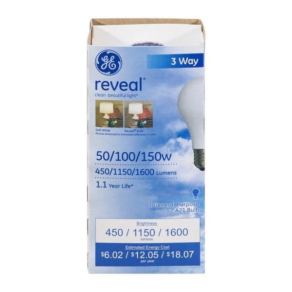 ge reveal 50100150w 3 way bulb