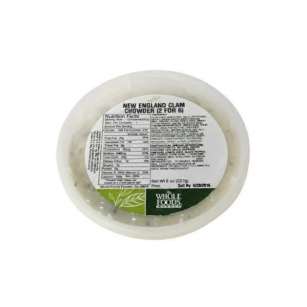 Whole Foods Market New England Clam Chowder (8 oz) - Instacart