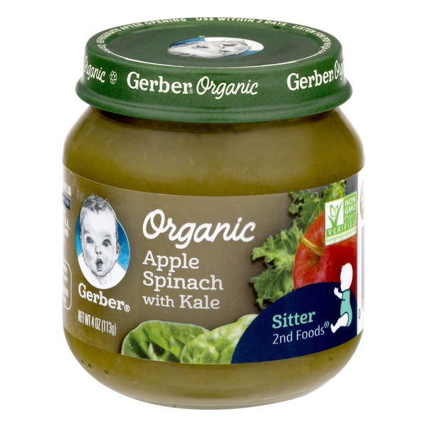 Gerber Organic Baby Food 2nd Foods Apple Spinach With Kale Non Gmo