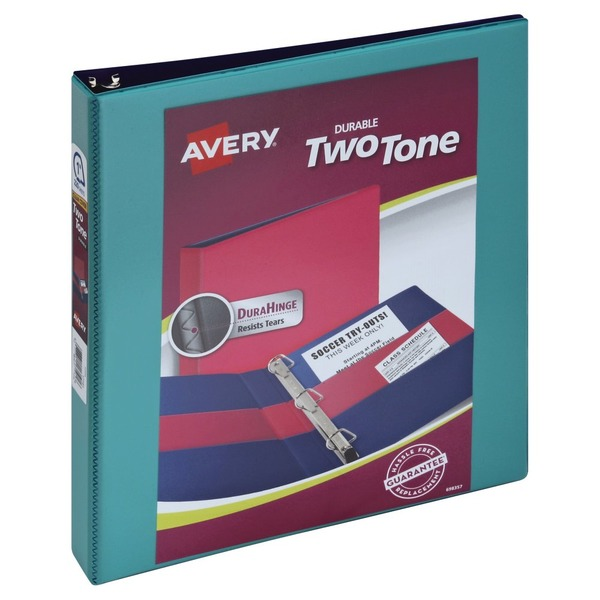 avery durable two tone 1 inch binder from vons instacart zip